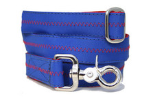 Sailcloth Leash Salty Dog Nautical