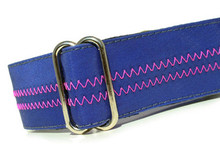 Sailcloth Dog Collar in Salty Nautical and Pink