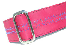 Sailcloth Dog Collar in Salty Dog Hot Pink