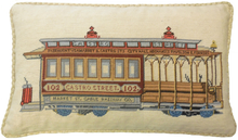 Trolley Car Needlepoint Pillow 4