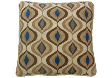Flutter Needlepoint Pillow Brown