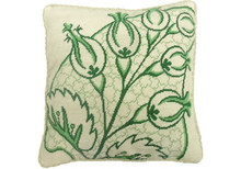 Big Leaf Needlepoint Pillow Green