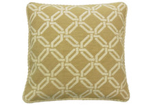 Gold Trellis Needlepoint Pillow