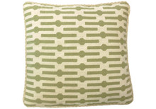 Green Geo Needlepoint Pillow