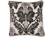 Brown Thistle Needlepoint Pillow