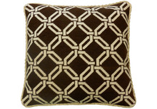 Brown Trellis Needlepoint Pillow
