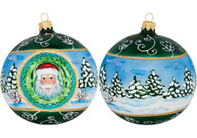 Galician Santa Reflector Ball Christmas Ornament