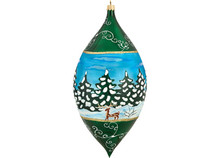 Galician Santa Drop Christmas Ornament
