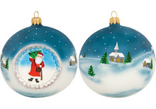 Father Frost Reflector Ball Christmas Ornament