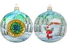 Carpathian Mountains Reflector Ball Christmas Ornament