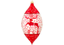 Bratislava Folk Art Drop Christmas Ornament