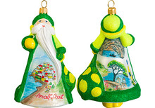 Amalfi Coast Santa Glass Christmas Ornament