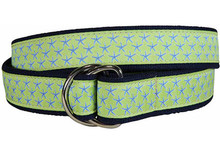 Starfish Ribbon Belt on Key Lime