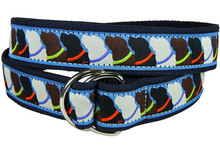 Labrador Retriever Ribbon Belt (D-Rings)