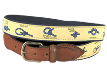Nautical Knots Belt on Yellow