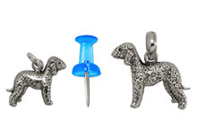 Sterling Silver Bedlington Terrier Charm - Mini