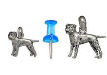 Sterling Silver Border Terrier Charm - Mini