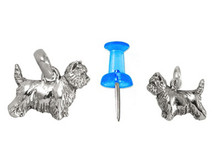 Sterling Silver Cairn Terrier Charm - Mini (B)