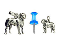 Sterling Silver Bull Mastiff Charm - Mini