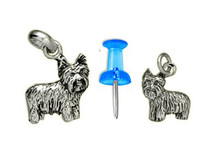 Sterling Silver Yorkie Puppy Charm - Mini