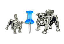 Sterling Silver Bulldog Charm - Mini