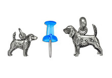 Sterling Silver Beagle Charm - Mini