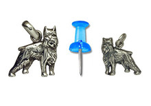 Sterling Silver Brussels Griffon Charm - Mini