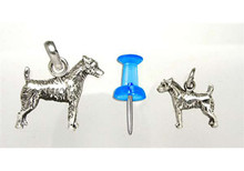 Sterling Silver Jack Russell Rough Coat  Charm - Mini