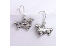 Dachshund Earrings - Long Haired