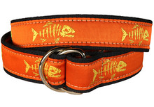 Rogue Fish Ribbon Belt on Orange (O-Ring)