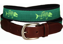 Rogue Fish Ribbon Belt on Green