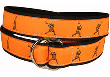 Lacrosse Ribbon Belt on Orange (O-Ring)