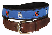 Black Lab Belt (in Blue)