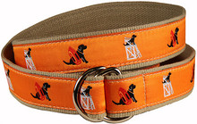 "Black Lab ""Guard Dog"" Ribbon Belt in Orange (O-Ring)"