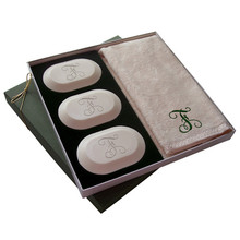 Carved Solutions Soap Single Initial Gift Set