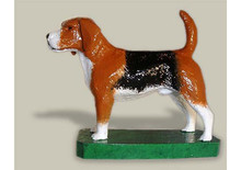 Beagle Hood Ornament (Enamel Finish)