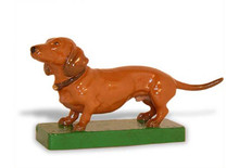 Dachshund Hood Ornament (Smooth Enamel)