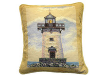 Lighthouse Needlepoint Pillow I