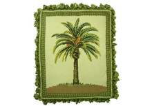Palm Tree Needlepoint Pillow (A)