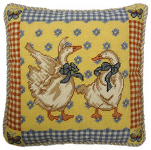 Geese Needlepoint Pillow