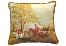 Hunting Needlepoint Pillow