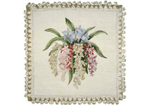 Orchid Needlepoint Pillow
