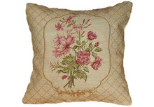 Roses Needlepoint Pillow