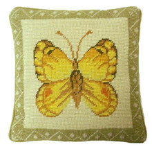 Butterfly Needlepoint Pillow III
