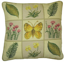 Butterfly Needlepoint Pillow II
