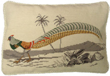 Pheasant Needlepoint Pillow 4