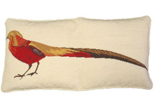 Pheasant Needlepoint Pillow 2