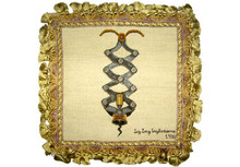 Corkscrew Needlepoint Pillow 2