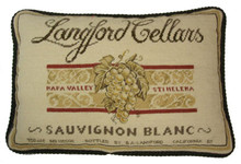 Sauvignon Blanc Needlepoint Pillow