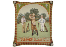 Golf Needlepoint Pillow (Summer Classic)